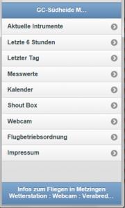 Mobile Vorschau einer Webseite